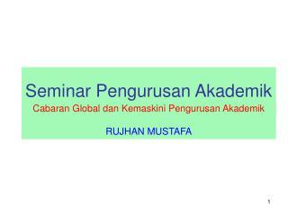Seminar Pengurusan Akademik