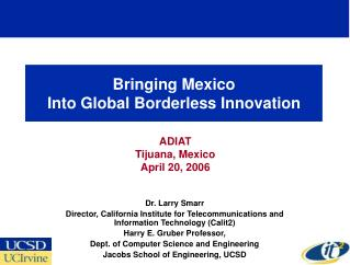 Bringing Mexico  Into Global Borderless Innovation
