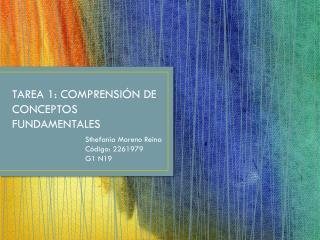 TAREA 1: COMPRENSI�N DE CONCEPTOS FUNDAMENTALES