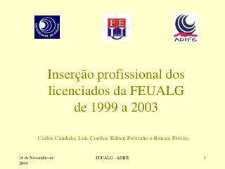 Inserção profissional dos licenciados da FEUALG  de 1999 a 2003