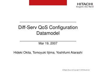 Diff-Serv QoS Configuration Datamodel