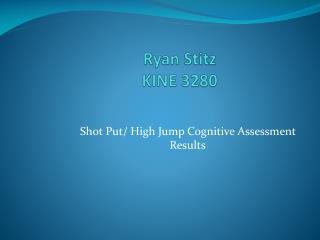 Ryan  Stitz KINE 3280