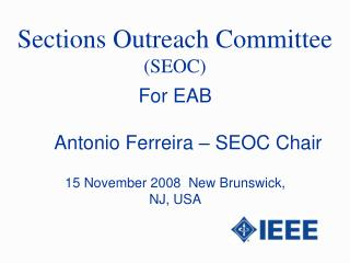 Sections Outreach Committee  (SEOC)