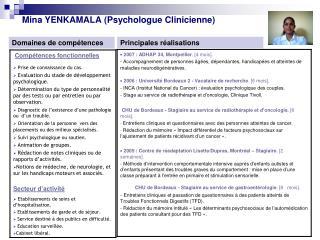 Mina YENKAMALA (Psychologue Clinicienne)