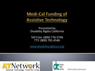 Medi-Cal Funding of Assistive Technology