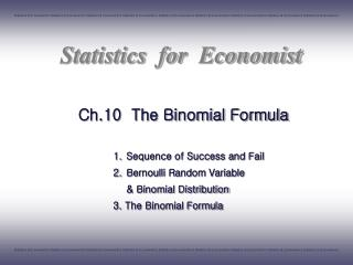 Ch.10  The Binomial Formula