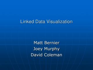 Linked Data Visualization