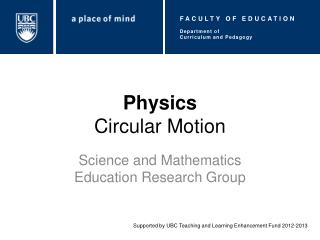 Physics Circular Motion
