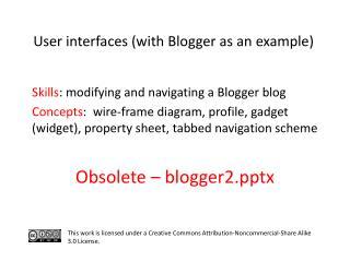 S kills : modifying and navigating a Blogger blog