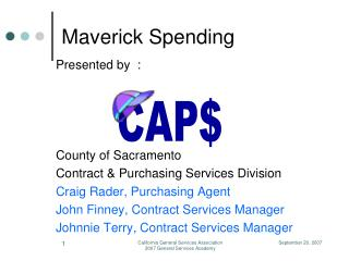 Maverick Spending