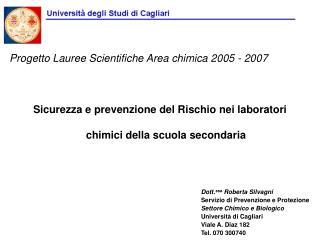Sicurezza e prevenzione del Rischio nei laboratori chimici della scuola secondaria