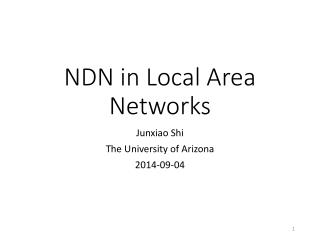 NDN in Local Area Networks