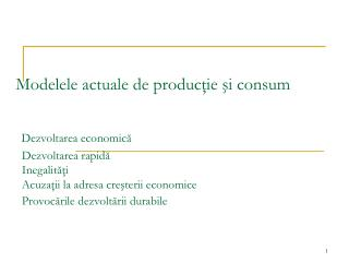 Dezvoltarea economică