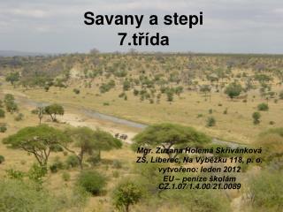 Savany a stepi 7.třída