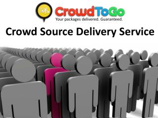 Crowd Source Delivery Service