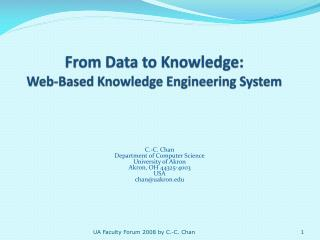 From Data to Knowledge: Web-Based Knowledge Engineering System