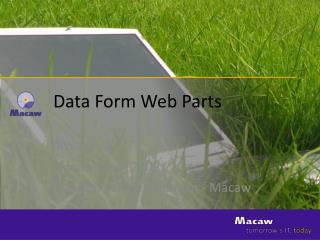 Data  Form  Web Parts