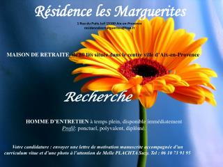 Résidence les Marguerites 1 Rue du Puits Juif 13100 Aix-en-Provence