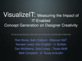 VisualizeIT:  Measuring the Impact of IT-Enabled  Concept Generation on Designer Creativity