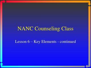 NANC Counseling Class
