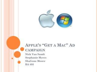 Apple�s �Get a Mac� Ad campaign