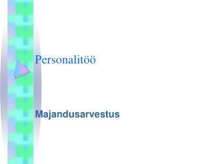 Personalitöö
