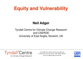 Vulnerability to environmental change