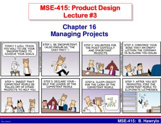 MSE-415: Product Design Lecture #3
