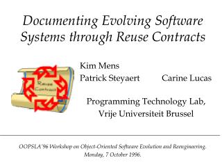 Documenting Evolving Software Systems through Reuse Contracts