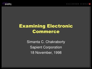 Examining Electronic Commerce