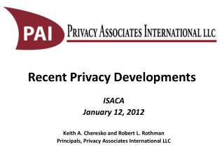 Recent Privacy Developments
