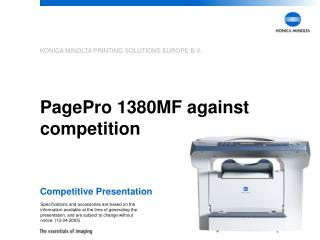PagePro 1380MF against competition