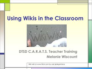 Using Wikis in the Classroom