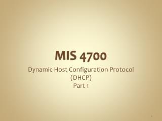 MIS 4700
