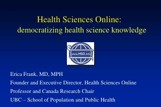 Health Sciences Online: