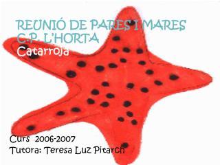 REUNIÓ DE PARES I MARES C.P. L'HORTA Catarroja