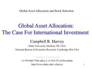 Global Asset Allocation: The Case for International ...