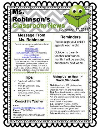 Ms. Robinson's
