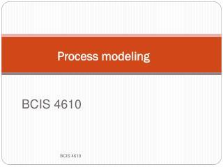 Process modeling
