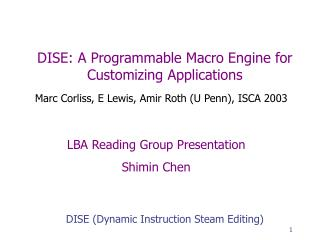 DISE: A Programmable Macro Engine for Customizing Applications