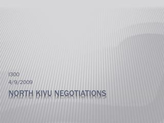 North Kivu Negotiations