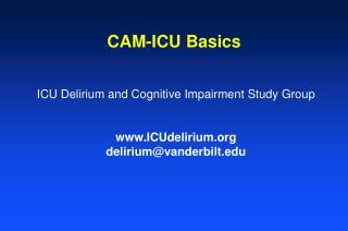 CAM-ICU Basics