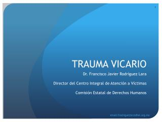 TRAUMA VICARIO