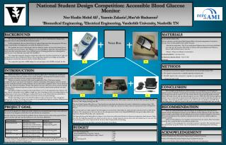 National Student Design Competition: Accessible Blood Glucose Monitor