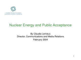 Nuclear Energy and Public Acceptance