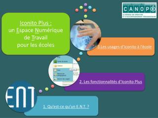 Iconito  Plus :  un  E space  N umérique de  T ravail  pour les écoles