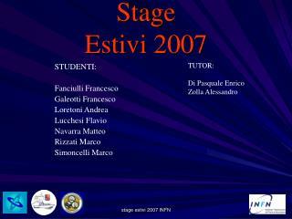 Stage  Estivi 2007