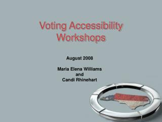 Voting Accessibility Workshops
