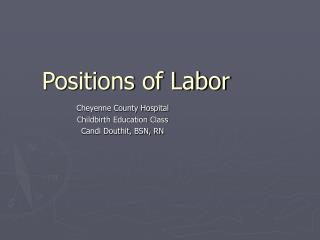 Positions of Labor