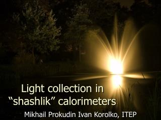 "Light collection in ""shashlik"" calorimeters"